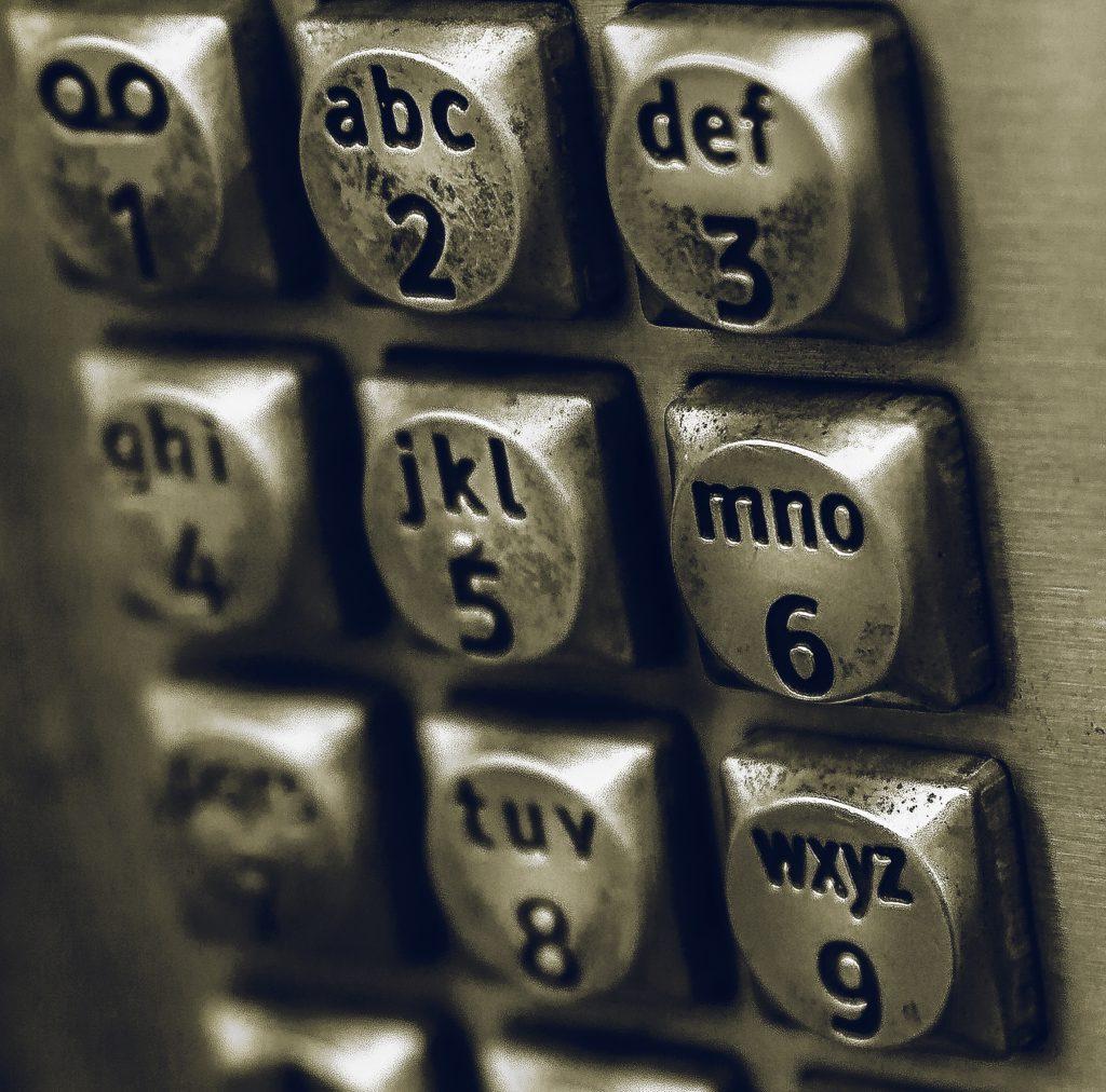 Telefontastatur im Retrolook