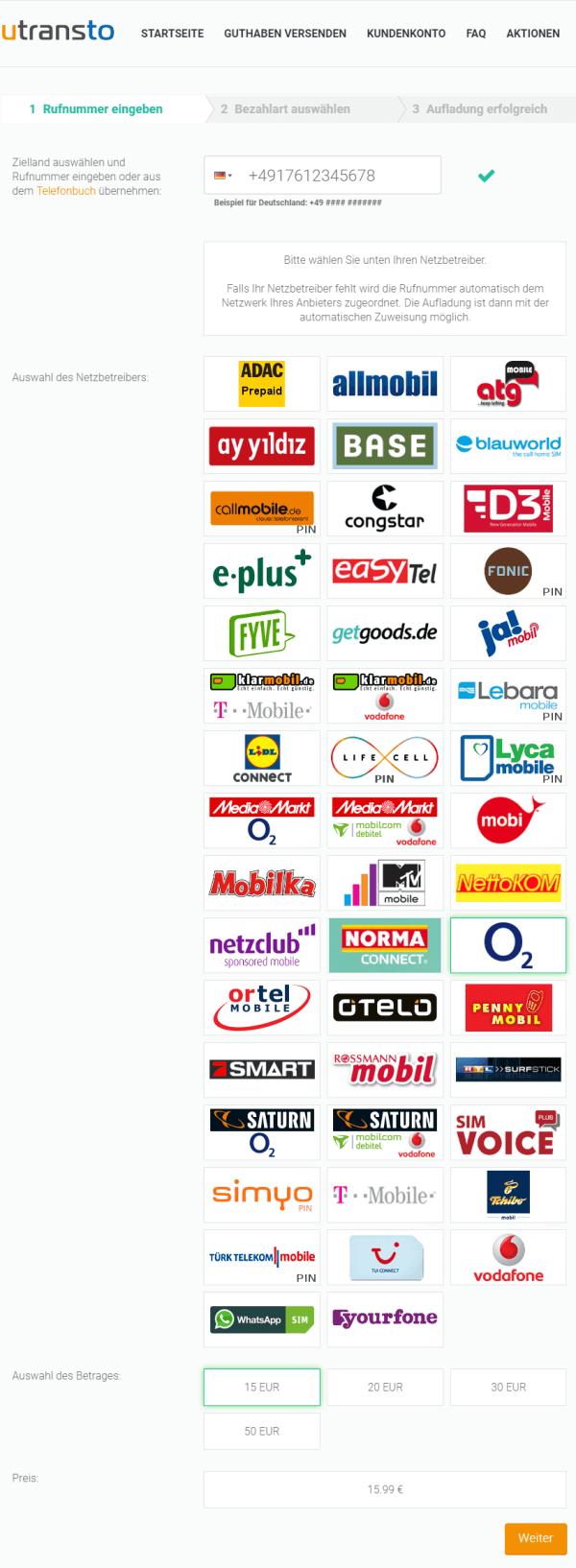 utransto Deutsche Anbieter